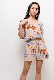 JÖWELL printed jumpsuit with open sleeves