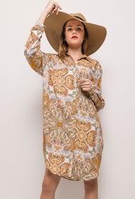 JÖWELL floral oversized shirt dress