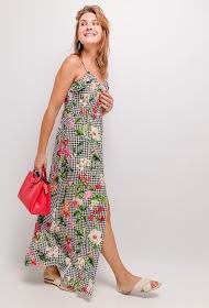 JÖWELL long buttoned gingham dress