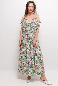 JÖWELL robe longue fleurie épaules ajourées