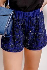JÖWELL shorts frisados com bordado