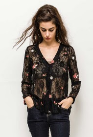 JUBYLEE lace seamless blouse