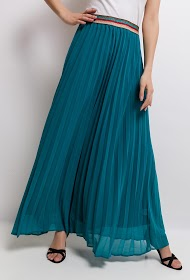 JUBYLEE pleated midi skirt