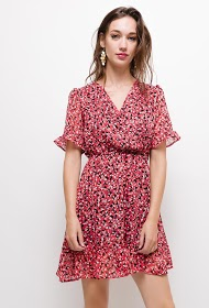JUBYLEE ruffled patterned dress