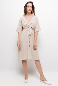 JUBYLEE buttoned wrap dress