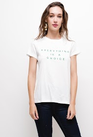 JUBYLEE t-shirt with embroidered message