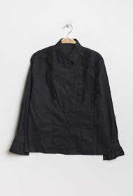 KAYCEE shirt with embroidered and perforated detail