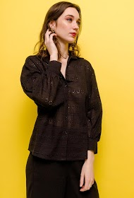 KAYCEE chemise avec motifs perforés