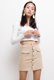 KAYCEE buttoned skirt with pockets