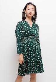 KAYCEE leaf patterned dress