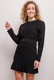 KAYCEE gestructureerde jurk