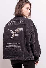 KAYCEE jacket with embroidered back