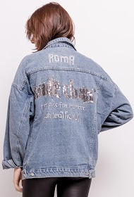 KAYCEE denim jacket with embroidered back
