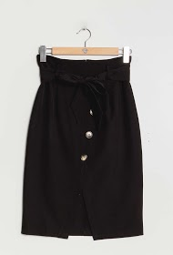 KICHIC buttoned skirt with bow