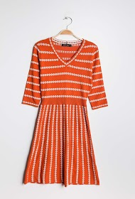 KICHIC striped knit dress