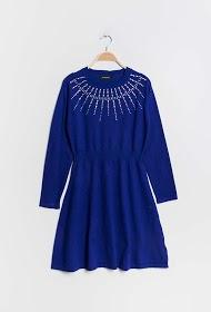 KICHIC robe en maille avec strass