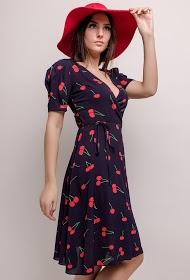 KICHIC robe à imprimé cerises