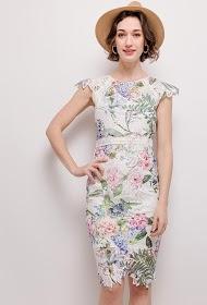 KICHIC printed lace dress