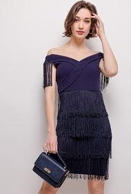 KICHIC fringed dress