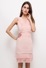 KICHIC dress with perforated details