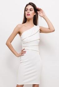 KICHIC stretch dress with zip
