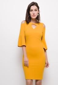 KICHIC dress with bare shoulders