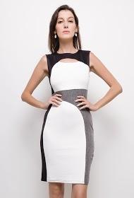 KICHIC bi-material dress