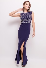 KICHIC long dress with rhinestones