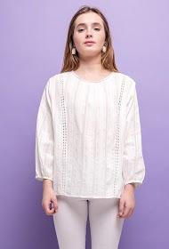 KY CRÉATION cotton blouse
