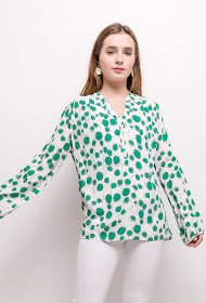 KY CRÉATION polka dot blouse