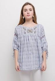 KY CRÉATION striped blouse