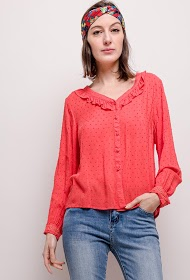 KY CRÉATION blouse and plumetis