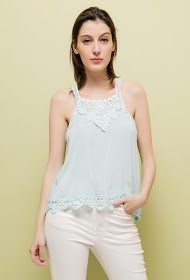 KY CRÉATION tank top with lace