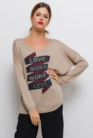 KY CRÉATION love more print sweater