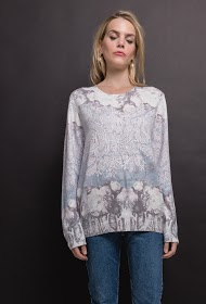 KY CRÉATION printed sweater
