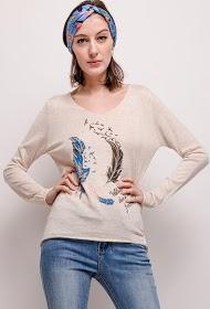 KY CRÉATION fine printed sweater