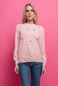 KY CRÉATION sweater med pompomer