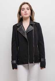 KY CRÉATION bi-material perfecto jacket