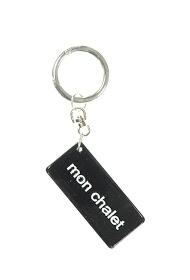 """LA P'TITE CACHOTTIÈRE keychain """"my chalet"""""""