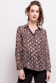 LILIE ROSE shirt with gold print
