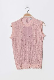 LILIE ROSE lace tank top