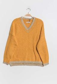 LILIE ROSE v-neck sweater with lurex