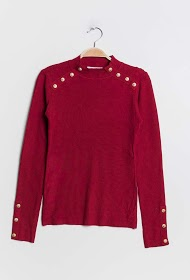 LILIE ROSE buttoned sweater