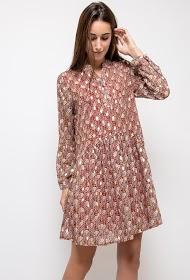 LILIE ROSE guldmønstret kjole