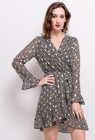 LILIE ROSE printed wrap dress