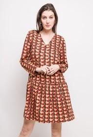 LILIE ROSE geprinte jurk