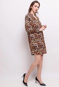 LILIE ROSE leopard dress