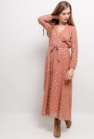 LILIE ROSE vestido longo estampado