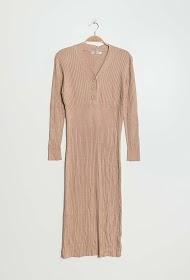 LILIE ROSE vestido midi de malha