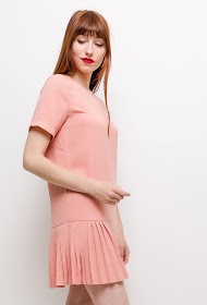 LILIE ROSE pleated dress